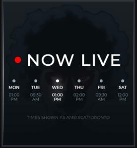 Twitch streamer Trihex's schedule